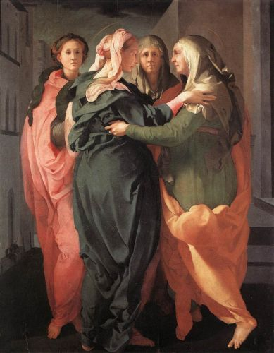 Visitation by Jacopo da Pontormo