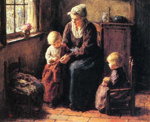 The Sewing Lesson by Bernard Pothast