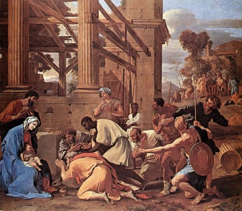 Adoration of the Magi by Nicolas Poussin