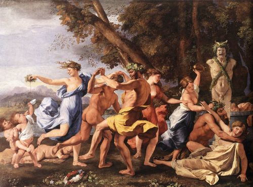Bacchanal before a Statue of Pan by Nicolas Poussin