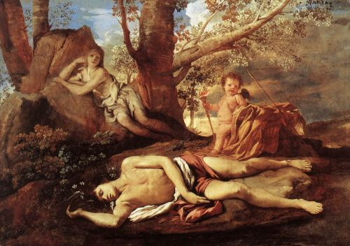 Echo and Narcissus by Nicolas Poussin