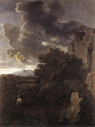 Hagar and the Angel by Nicolas Poussin
