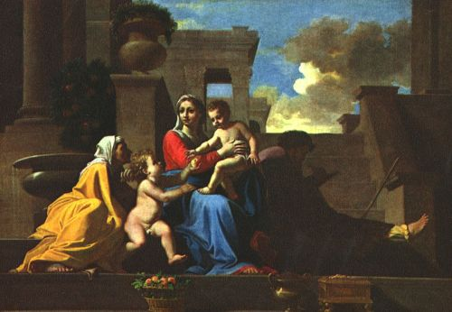 Holy Family on the Steps by Nicolas Poussin