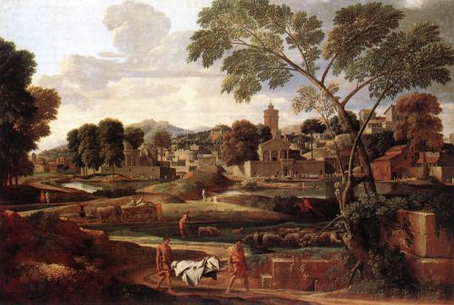 Landscape with the Funeral of Phocion by Nicolas Poussin