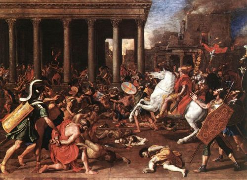 The Destruction of the Temple at Jerusalem by Nicolas Poussin