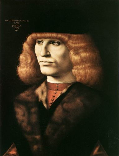 Portrait of a Young Man by Giovanni Ambrogio de Predis