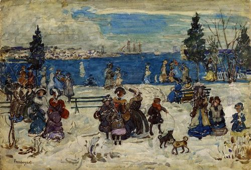 April Snow, Salem by Maurice Prendergast