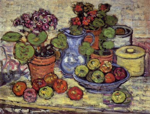 Cinerarias and Fruit by Maurice Prendergast