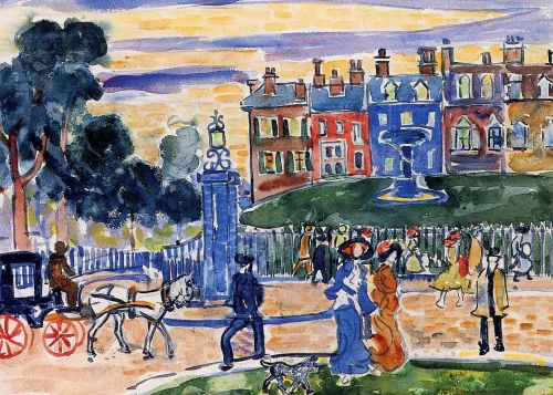 Edge of the Park by Maurice Prendergast
