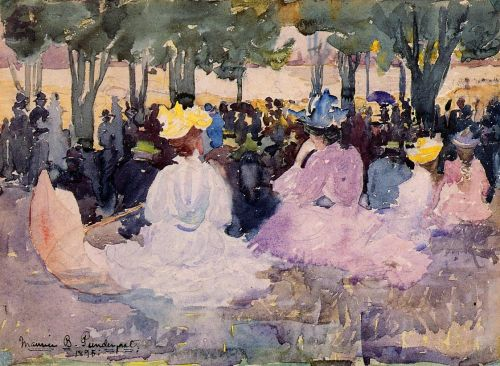 Figures on the Grass by Maurice Prendergast