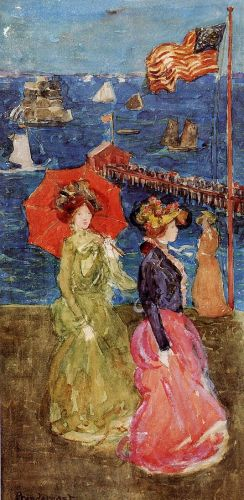 Figures under the Flag by Maurice Prendergast