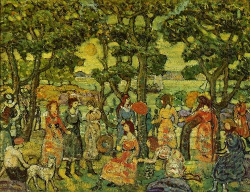 Landscape with Figures by Maurice Prendergast