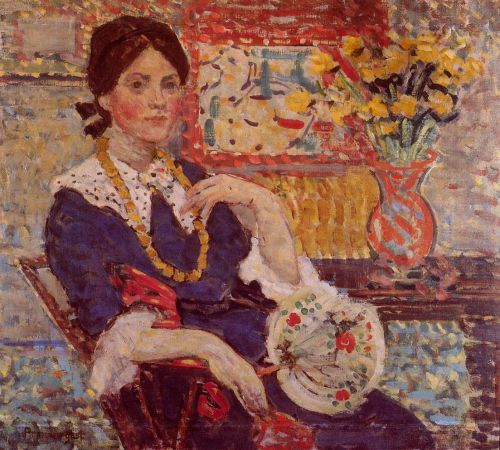 Le Rouge: Portrait of Miss Edith King by Maurice Prendergast