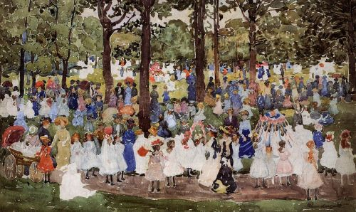 May Day, Central Park by Maurice Prendergast