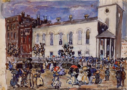 Park Street Church, Boston by Maurice Prendergast