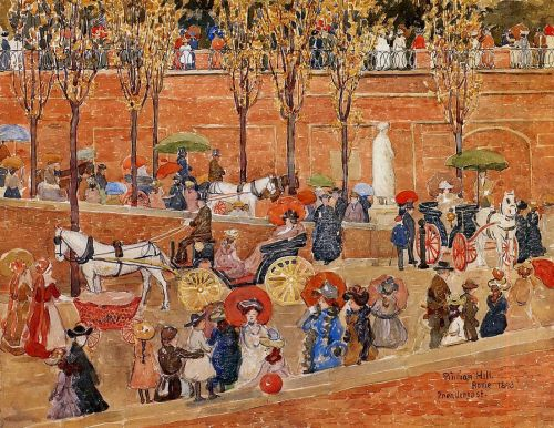 Pincian Hill, Rome by Maurice Prendergast