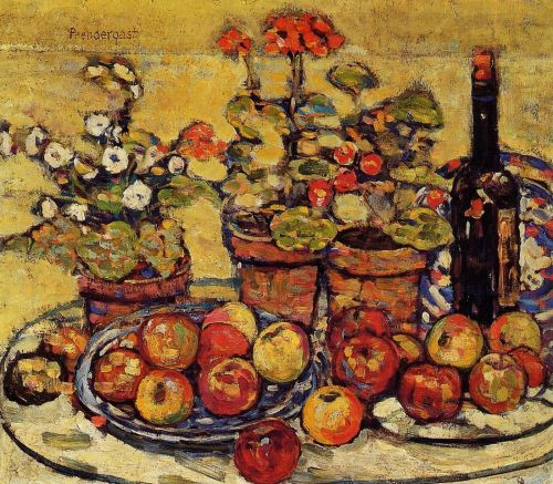 Still Life: Fruit and Flowers by Maurice Prendergast