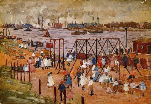 The East River by Maurice Prendergast