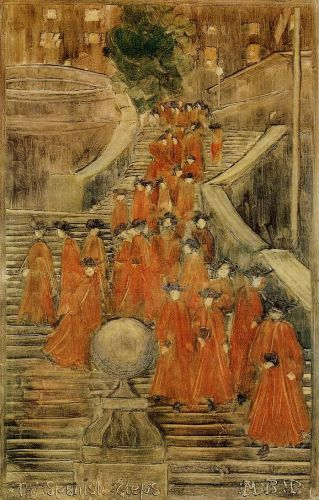 The Spanish Steps by Maurice Prendergast