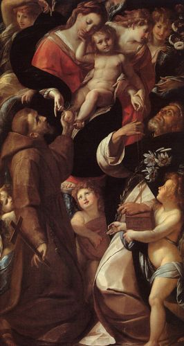 Madonna and Child with Saints and Angels by Giulio Cesare Procaccini