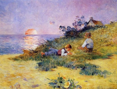 Children on a Dune by Ferdinand Loyen Du Puigaudeau