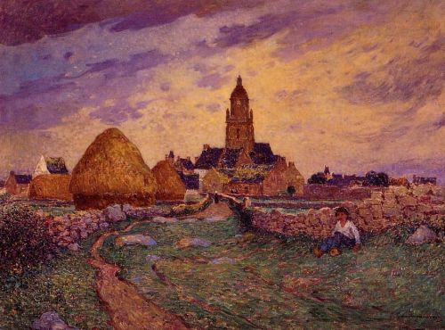 Path in Front of the Church of Croisic by Ferdinand Loyen Du Puigaudeau