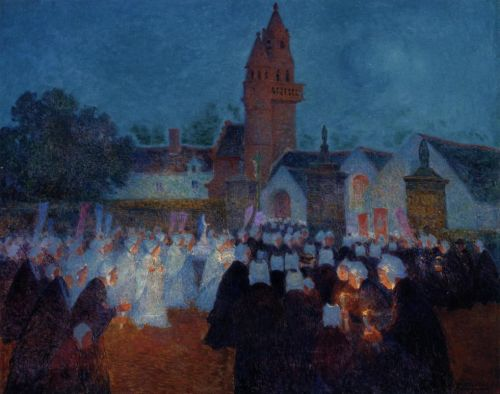 Procession at Nenvic by Ferdinand Loyen Du Puigaudeau