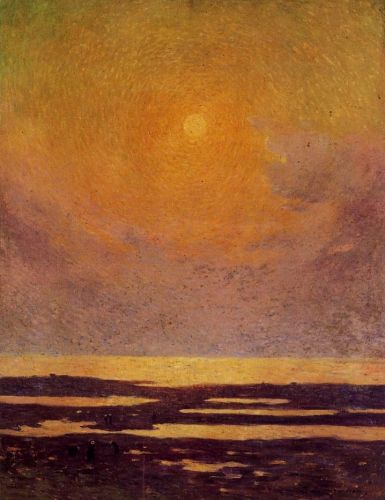 Sunset on the Coast by Ferdinand Loyen Du Puigaudeau