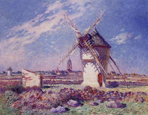 Windmills near the Town of Batz by Ferdinand Loyen Du Puigaudeau