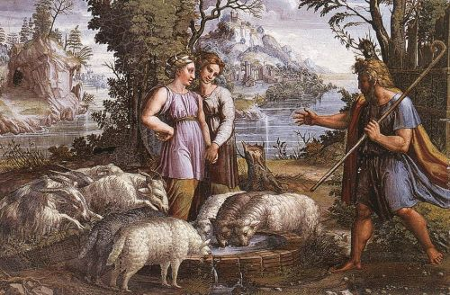 Jacob's Encounter with Rachel by Raffaello Sanzio Raphael
