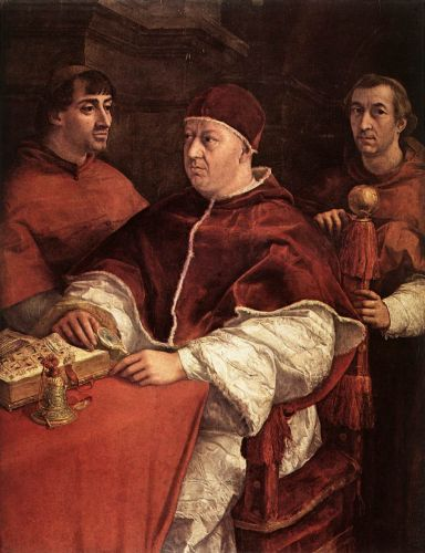 Pope Leo X with Cardinals by Raffaello Sanzio Raphael