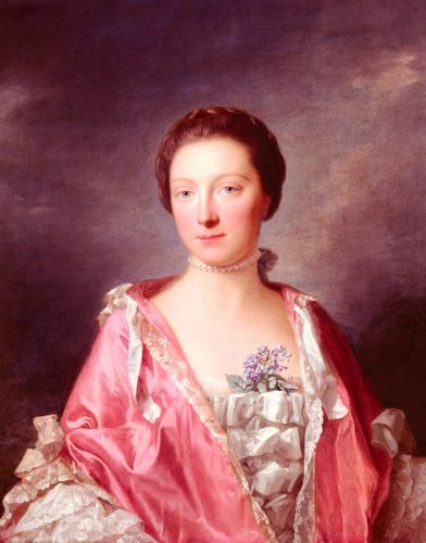 Portrait Of Elizabeth Gunning, Duchess Of Argyll by Allan Ramsay