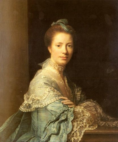 Portrait Of Jean Abercromby, Mrs Morison by Allan Ramsay