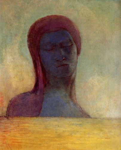 Closed Eyes by Odilon Redon