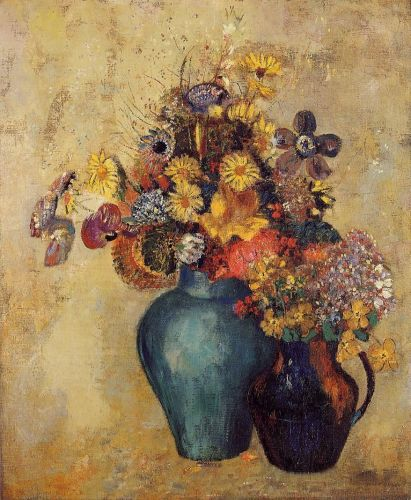 Flowers by Odilon Redon