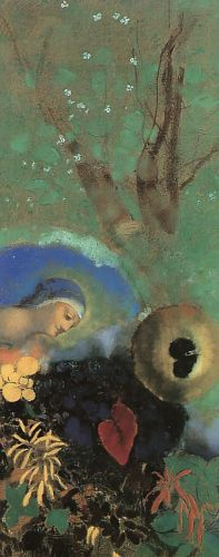 Homage to Leonardo da Vinci by Odilon Redon