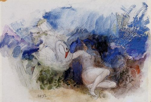 Leda and the Swan by Odilon Redon
