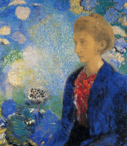 Portrait of Madame de Demecy by Odilon Redon