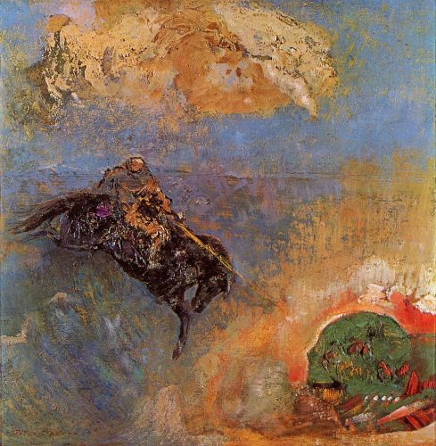 Roger and Angelica by Odilon Redon