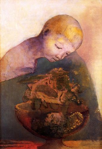 The Chalice of Becoming by Odilon Redon