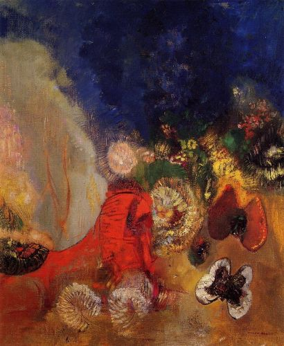 The Red Sphinx by Odilon Redon