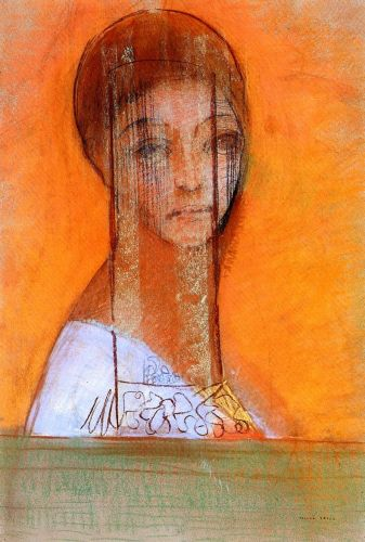 Veiled Woman by Odilon Redon