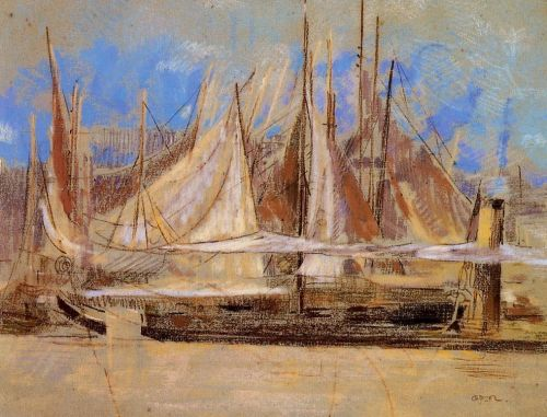 Yachts at Royan by Odilon Redon