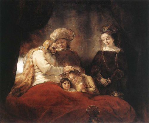 Jacob Blessing the Children of Joseph by Rembrandt van Rijn