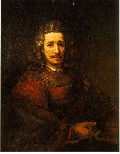 Man with a Magnifying Glass by Rembrandt van Rijn