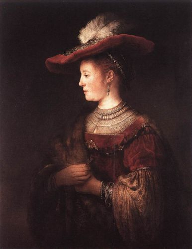 Saskia in Pompous Dress by Rembrandt van Rijn