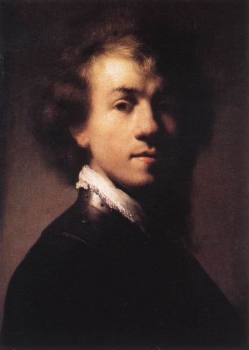 Self-Portrait with Lace Collar by Rembrandt van Rijn