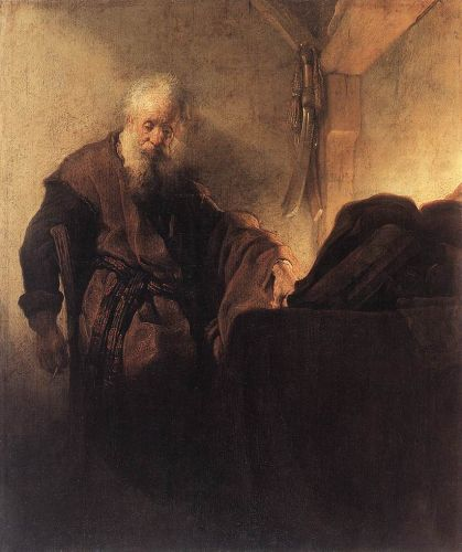 St Paul at his Writing-Desk by Rembrandt van Rijn