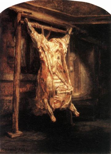 The Flayed Ox by Rembrandt van Rijn