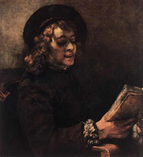 Titus Reading by Rembrandt van Rijn